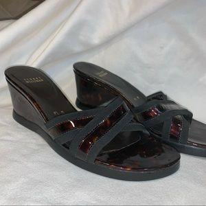 Flawless Stuart Weizmann Black & Tortoise Sandals